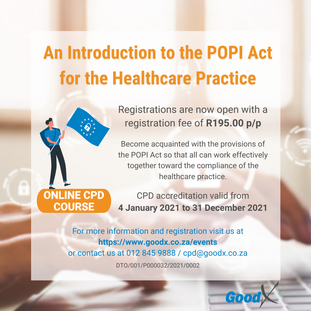 An Introduction to the POPI Act for the Healthcare Practice